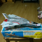 Metro Grumman F111A Jet fighter Tinplate battery operated